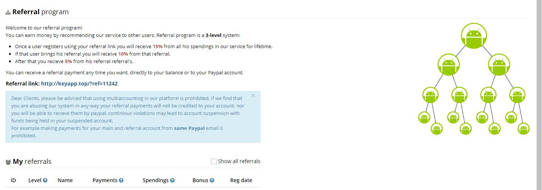 Keyapp.top - сервис по продвижению приложения